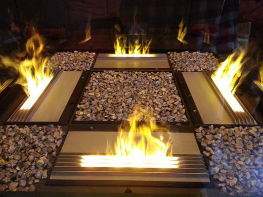 gro e glasvase mit 4 wasserdampf flammen referenzen im. Black Bedroom Furniture Sets. Home Design Ideas